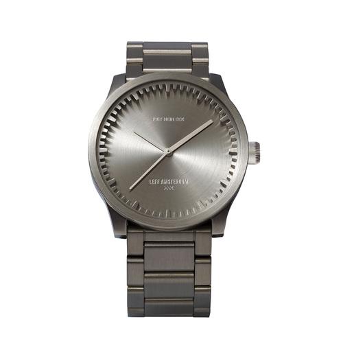 LEFF amsterdam|tube 北歐工業齒輪設計腕錶 (42mm ,不銹鋼、銀鋼帶)