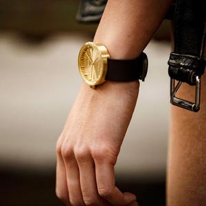 LEFF amsterdam tube  北歐工業齒輪設計真皮腕錶 (38mm,黃銅、棕皮帶)