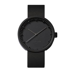 LEFF amsterdam tube 北歐工業齒輪設計真皮腕錶 (42mm,霧黑、黑皮帶)