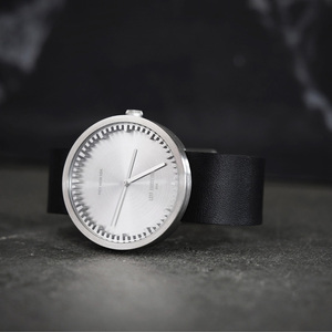 LEFF amsterdam tube  北歐工業齒輪設計真皮腕錶 (42mm,不鏽鋼、黑皮帶)