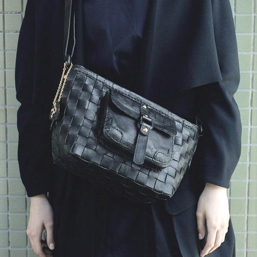 ROBITA 職人推薦  手染經典口袋款編織大方包/側背包