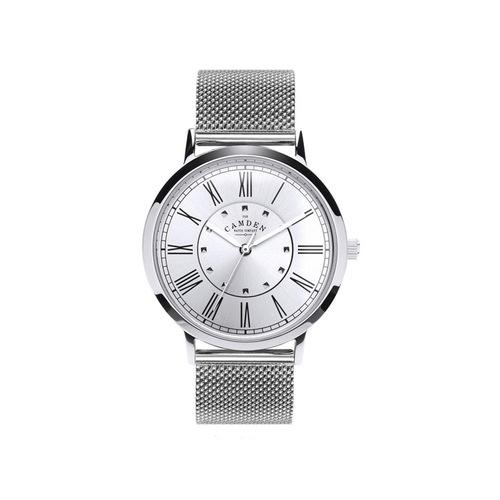 Camden Watch|時尚氣質 英倫羅馬數字腕錶/金屬錶帶(銀)
