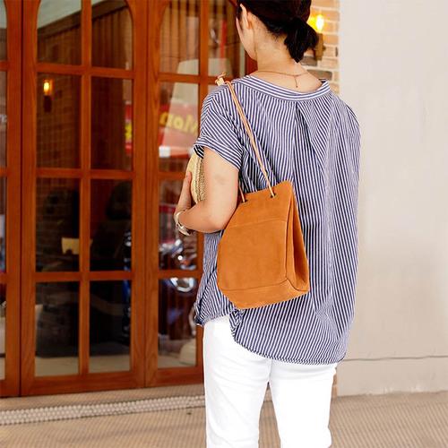 SUOLO|日系質感側背肩背兩用水桶包