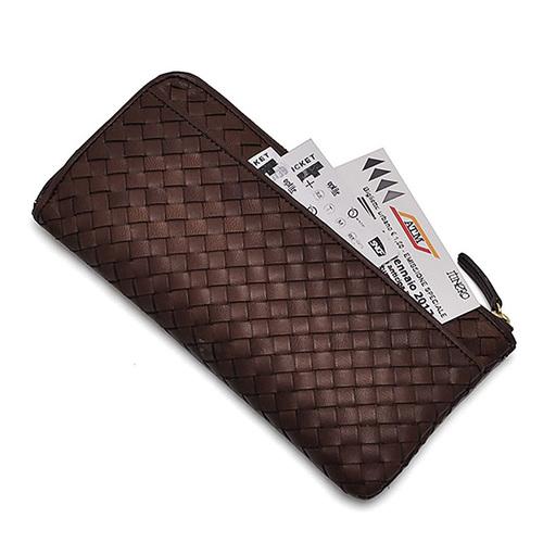 CLEDRAN|交織起舞 日本品味編織馬皮長夾