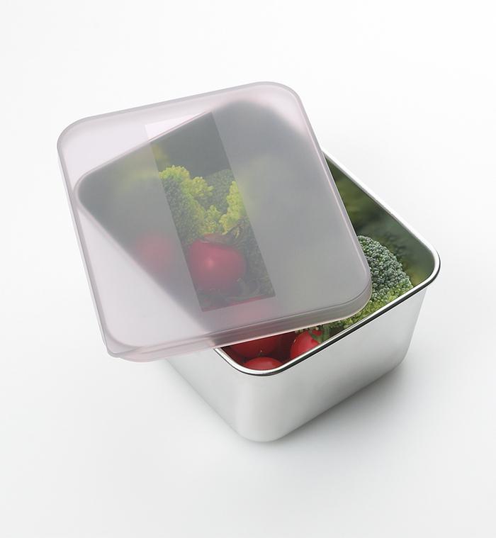 遠馸思創 日本製霧面蓋不鏽鋼方形保鮮盒 (迷你黑)
