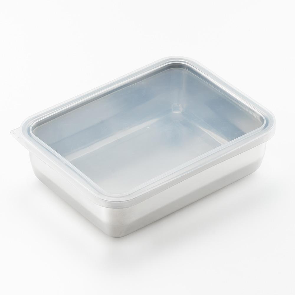 遠馸思創|日本製透明蓋不鏽鋼方形保鮮盒 (大)