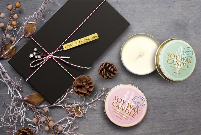水先| 花與樹.純精油大豆蠟燭禮盒