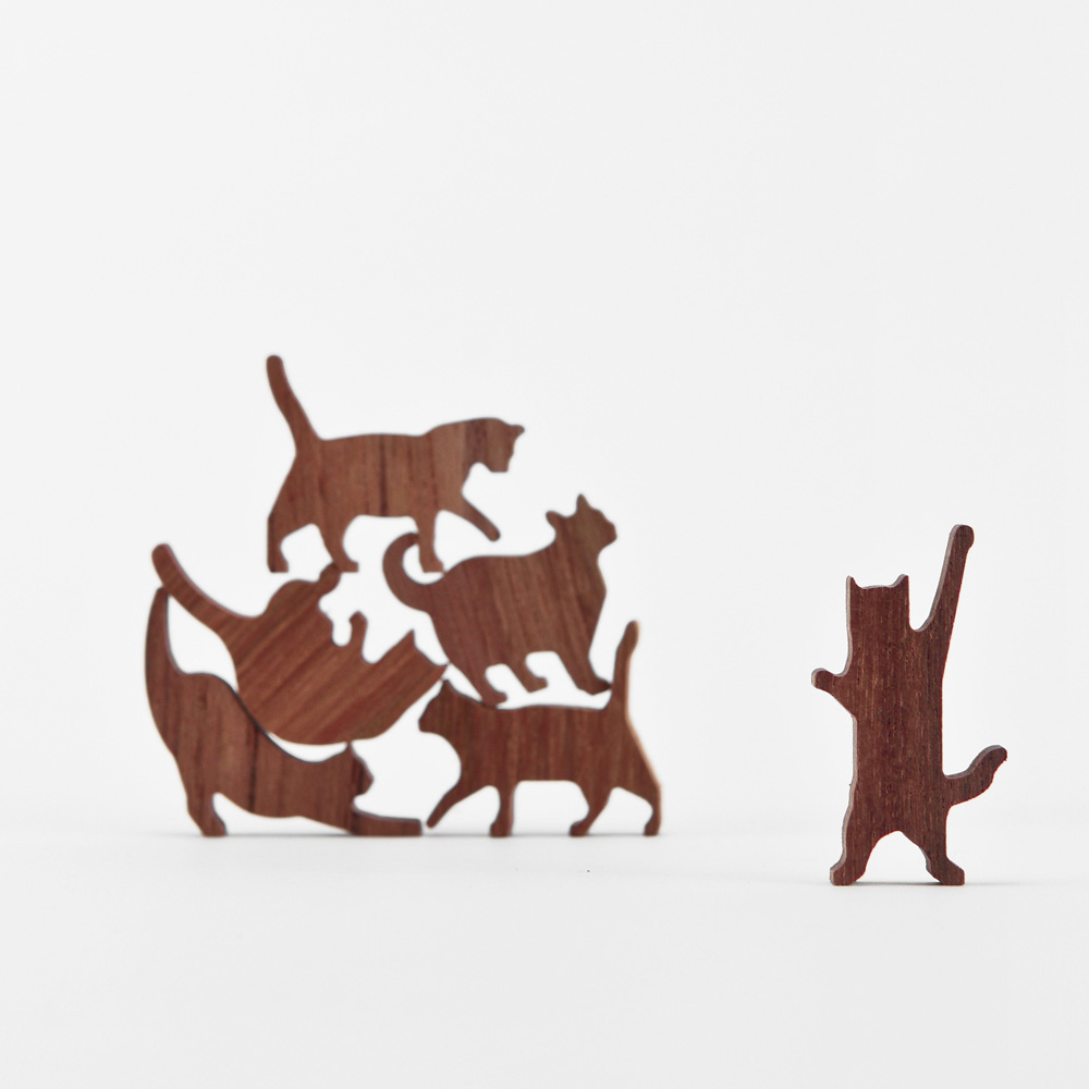 COMMA|貓咪疊疊樂-柚木(粉紅)