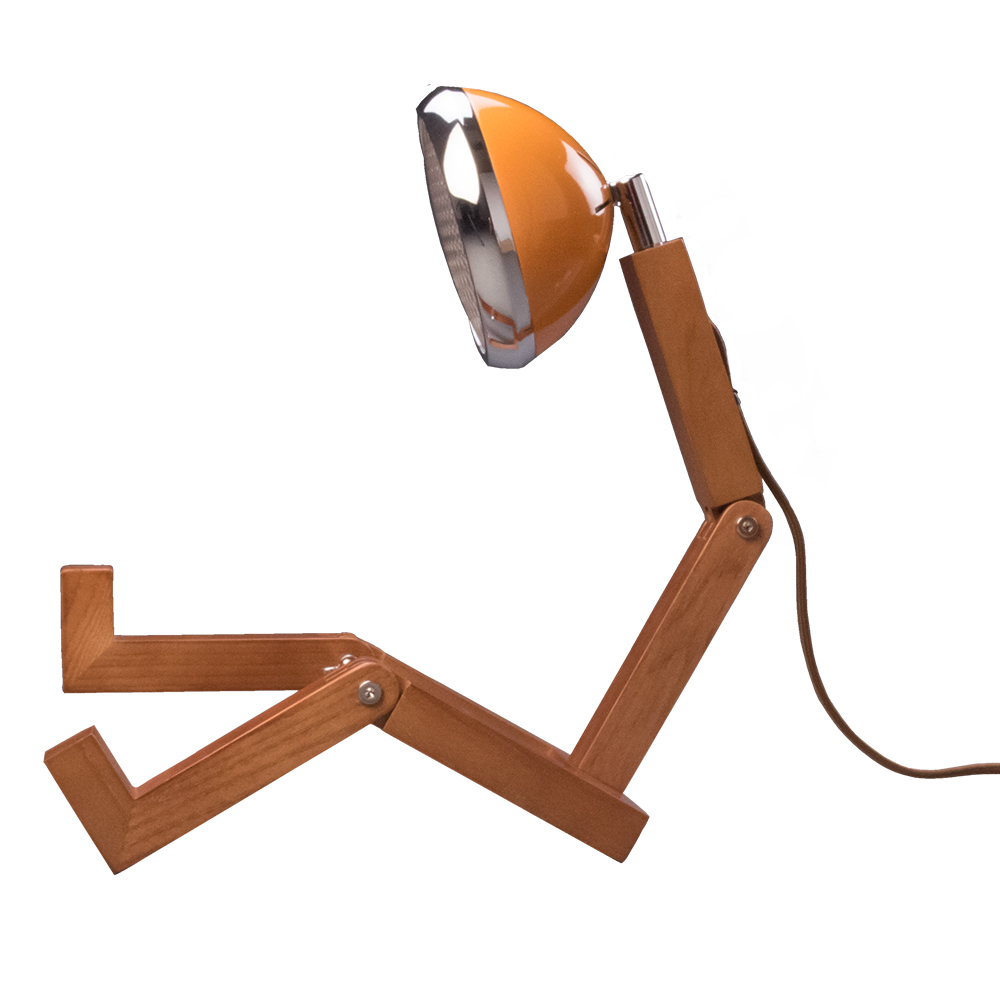 Soyee| LED梣木機器人燈(麥拉倫橘)