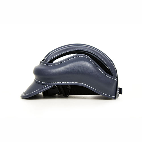 S E i c |皮質復古單車皮帽 |藍