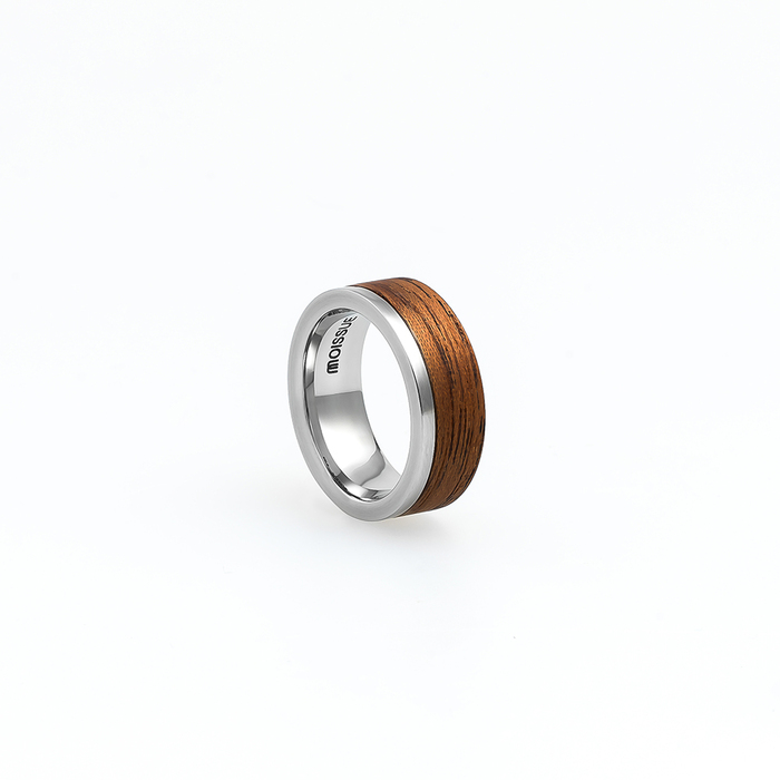 Moissue 木頭戒指SECOND LIFE系列(桃花心木/不鏽鋼)