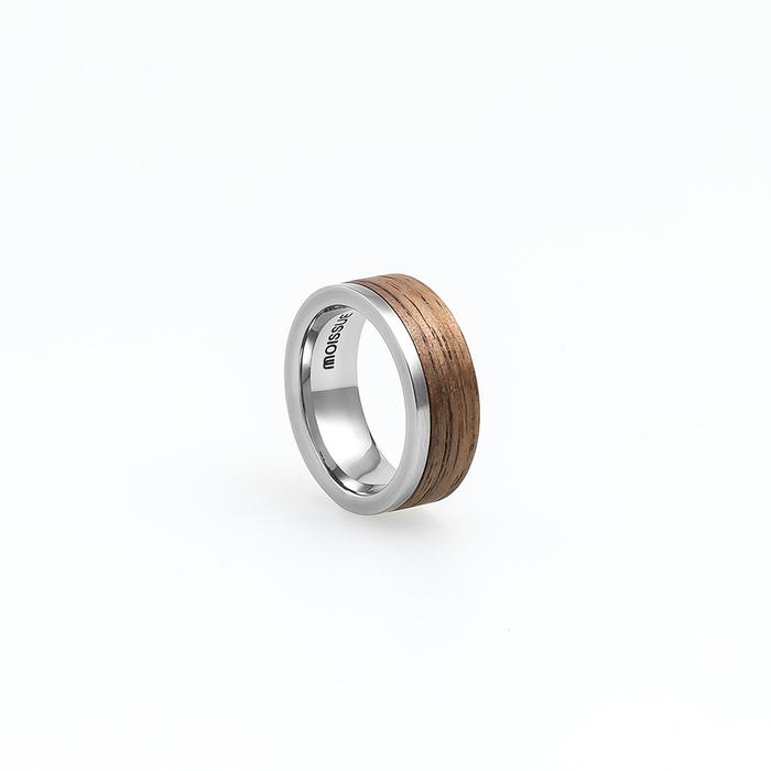 Moissue 木頭戒指SECOND LIFE系列(胡桃木/不鏽鋼)