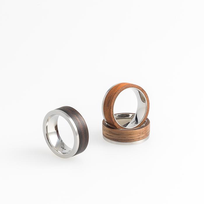 Moissue|木頭戒指SECOND LIFE系列(黑檀木/不鏽鋼)