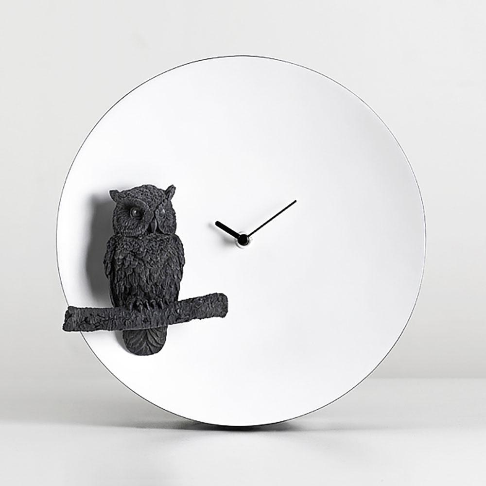 haoshi 良事設計|月亮時鐘 - 貓頭鷹