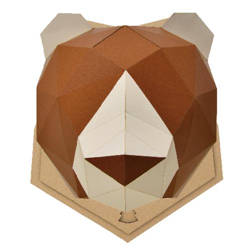 bog craft 立體動物紙藝  熊/Wall L-size