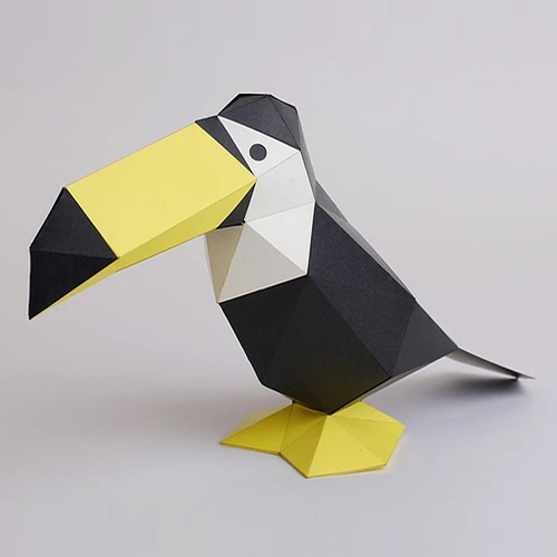 bog craft|立體動物紙藝  巨嘴鳥/TINY