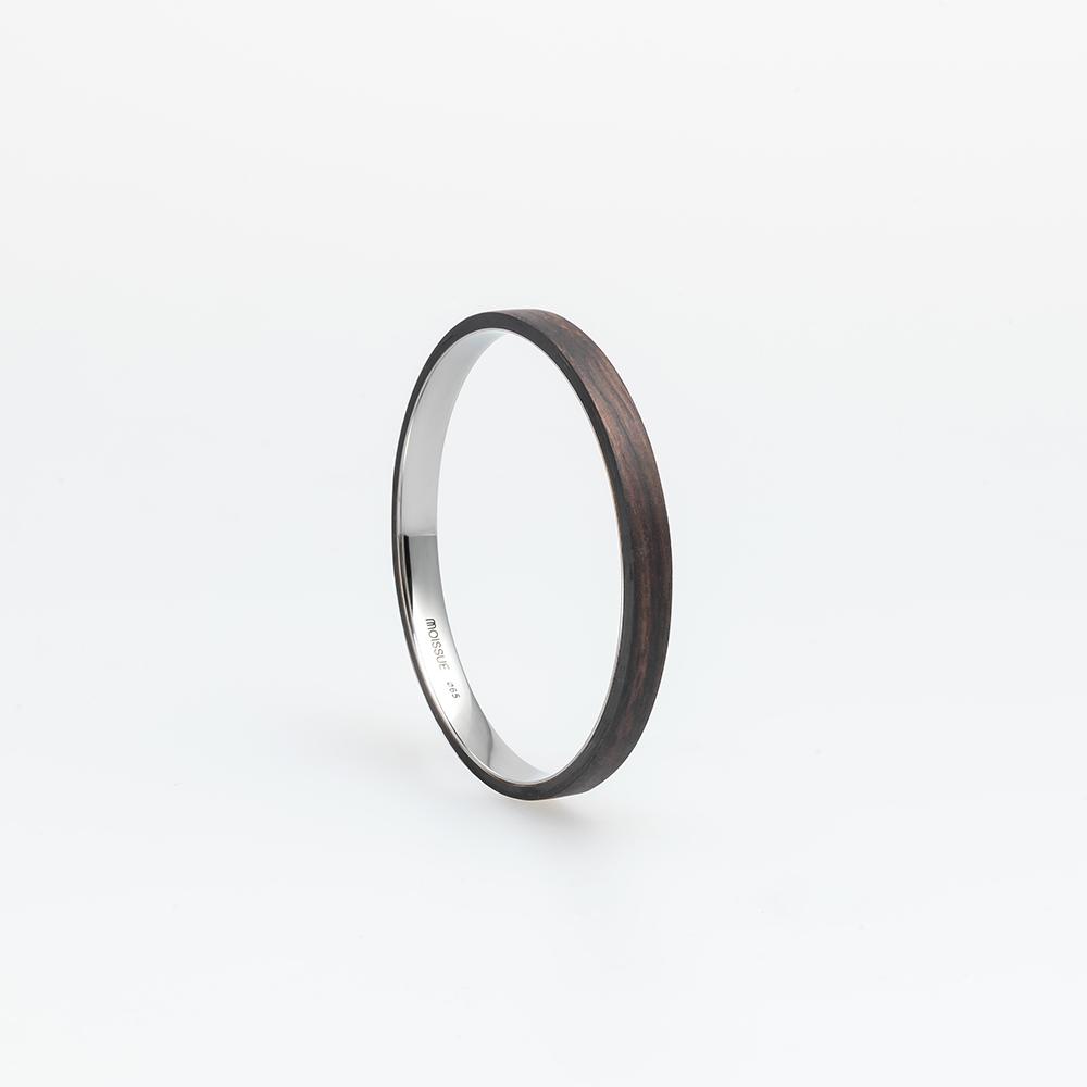 Moissue|木頭手環SECOND LIFE系列(黑檀木)