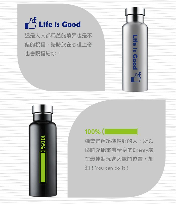 Driver│長效全鋼蓋真空瓶 (Life is Good) 600ml