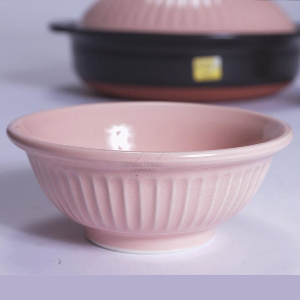 日本銀峯|菊花陶碗 (櫻花)