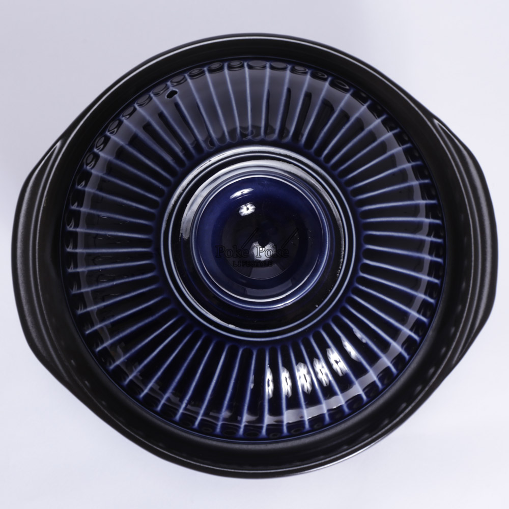 日本銀峯 | 28cm菊花9號土鍋 (琉璃藍)