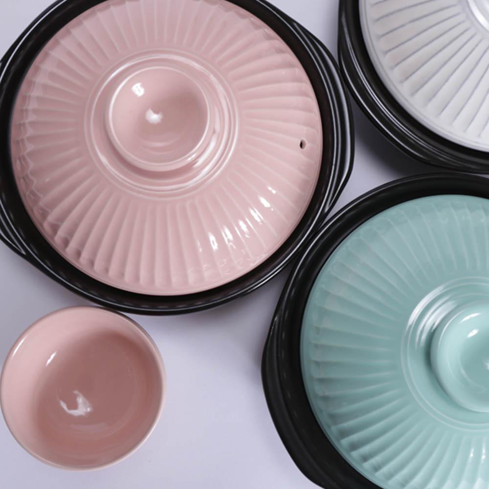 日本銀峯 | 28cm菊花9號土鍋+陶碗x2 (青磁) (日本限定組)