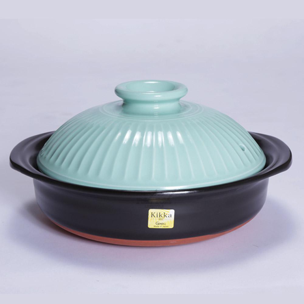 日本銀峯 | 24cm菊花9號土鍋 (青磁) (日本限定款)