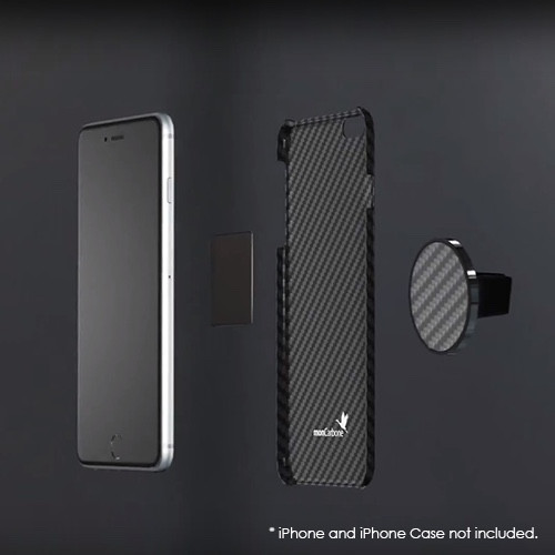 (複製)monCarbone|JustClick 碳纖維磁吸型車座 - 經典銀