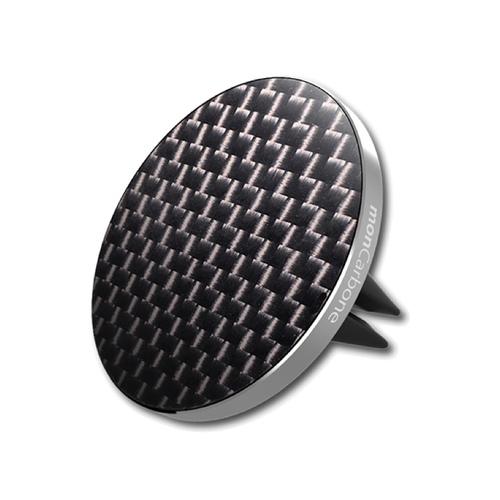 monCarbone|JustClick 碳纖維磁吸型車座 - 經典銀