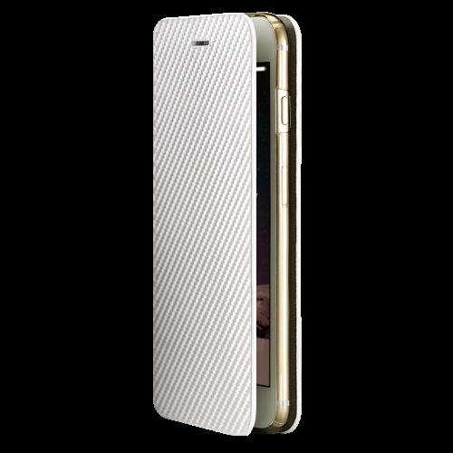monCarbone|Portfolio 碳纖維保護殼 for iPhone 6/6s (珍珠白)