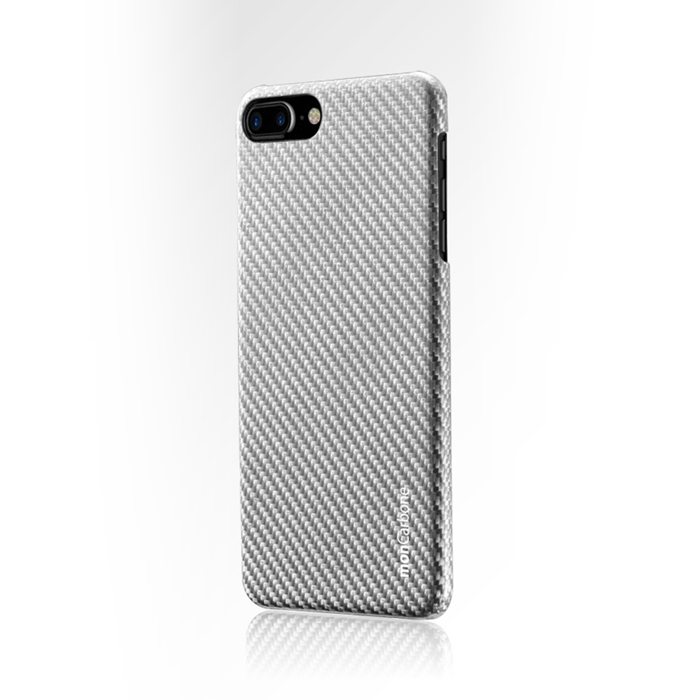 monCarbone|HOVERKOAT 碳纖維複合材質手機殼 for iPhone 7 (都會銀)