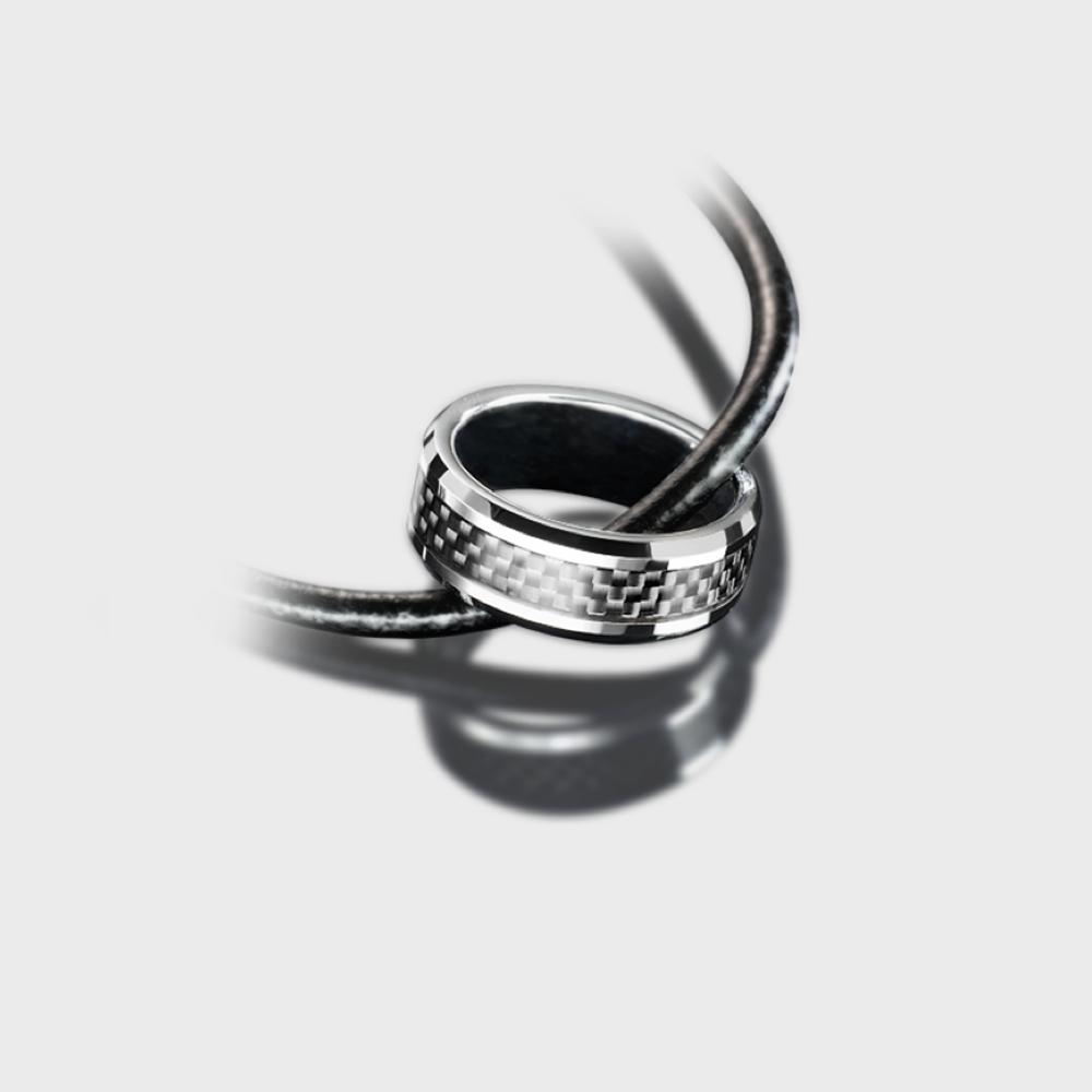 monCarbone 碳纖維戒指項鍊