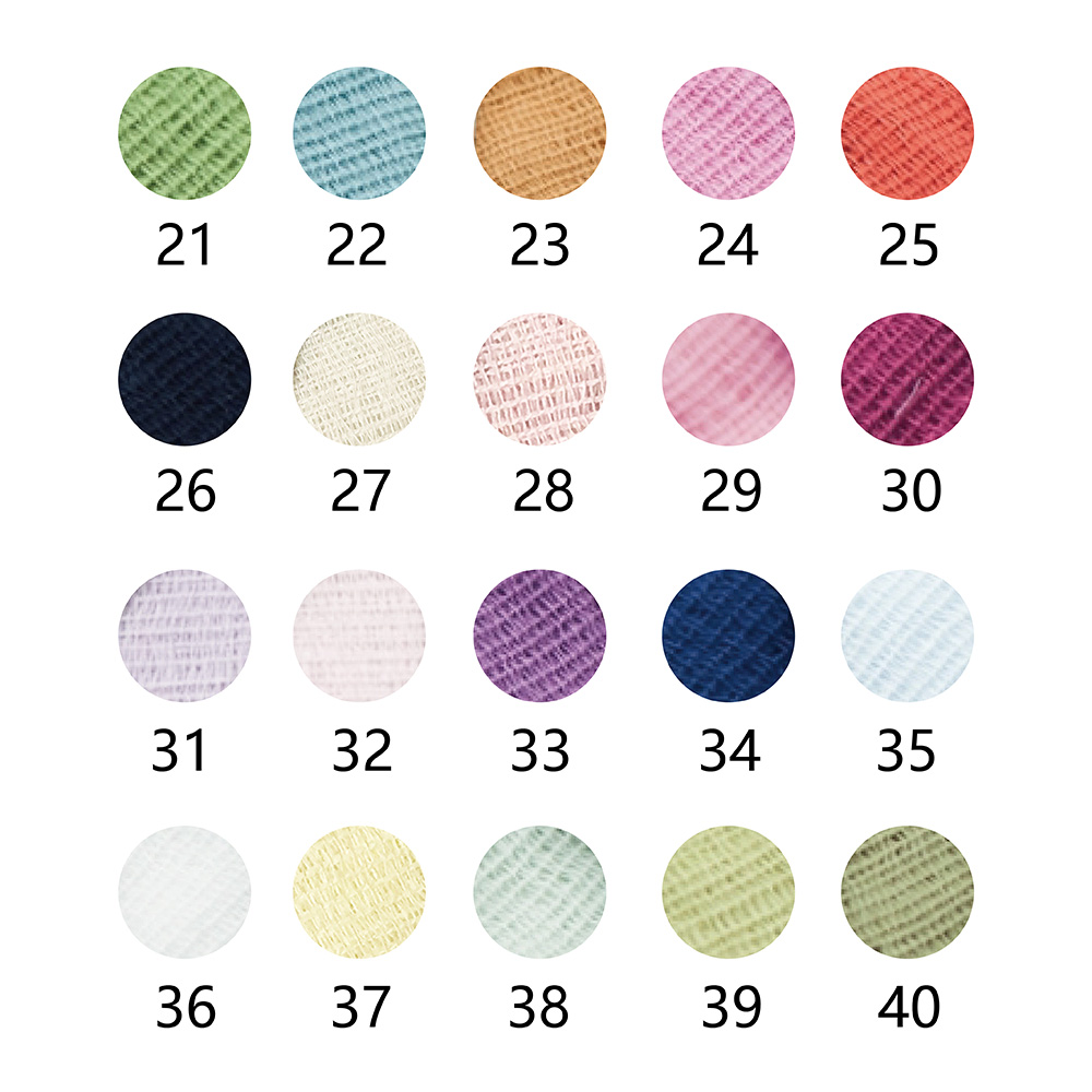 今治織上|日本今治認證 抗UV有機棉70g圍巾 (47色可選)
