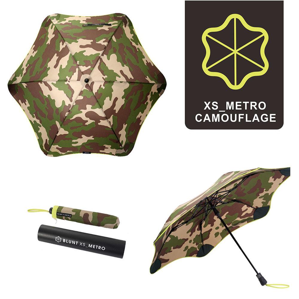 紐西蘭Blunt 保蘭特 | 95cm抗強風 metro迷彩折傘 (黃色傘緣)