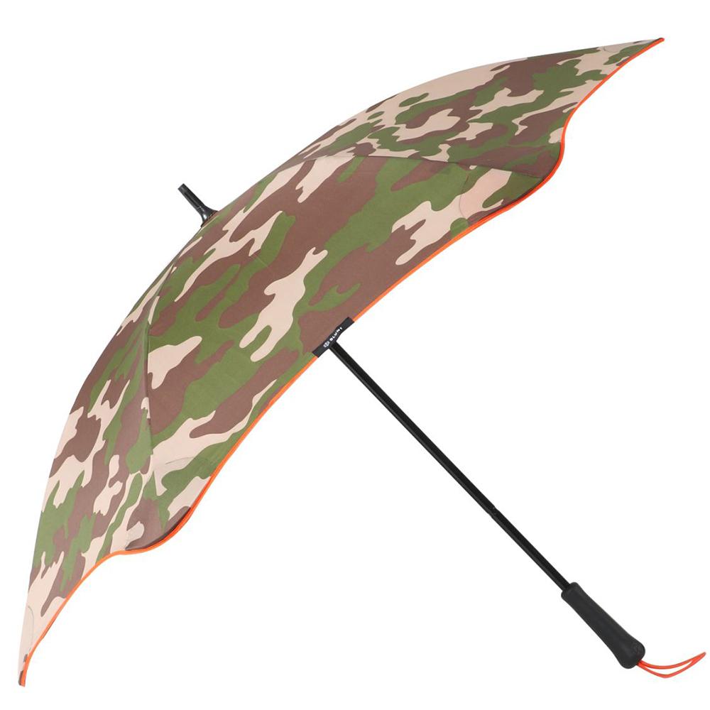 紐西蘭Blunt 保蘭特 | 120cm抗強風 迷彩直傘 (橘色傘緣)