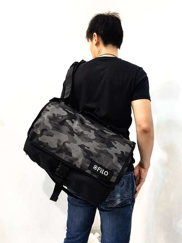 FiLO DESIGN|NYLON MESSENGER CAMO / 遞旅(反光迷彩)郵差包