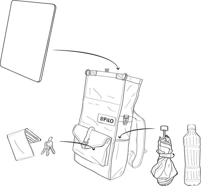 Filo Design NYLON DAY PACK 日行(迷彩) 雙肩包