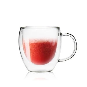 日本FUSHIMA富島 雙層耐熱玻璃杯260ML(把手)