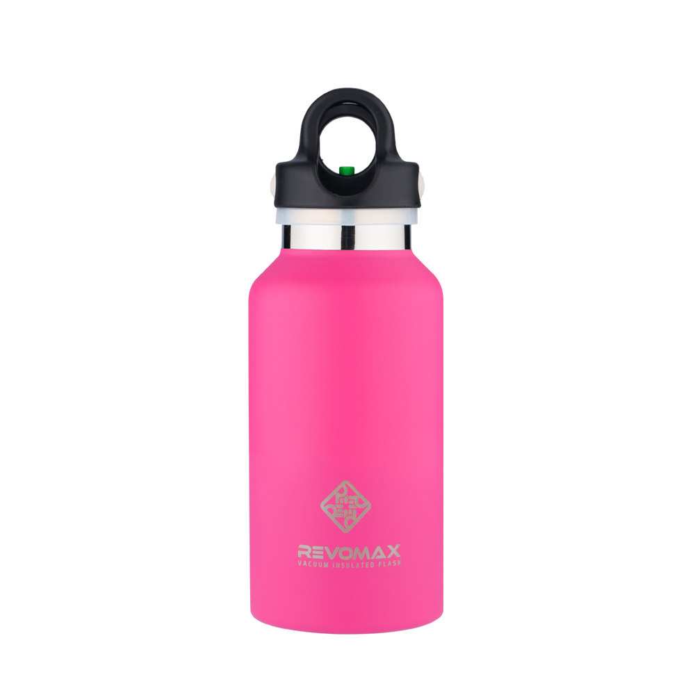 REVOMAX|316不鏽鋼保溫保冰秒開瓶355ML(亮麗桃)