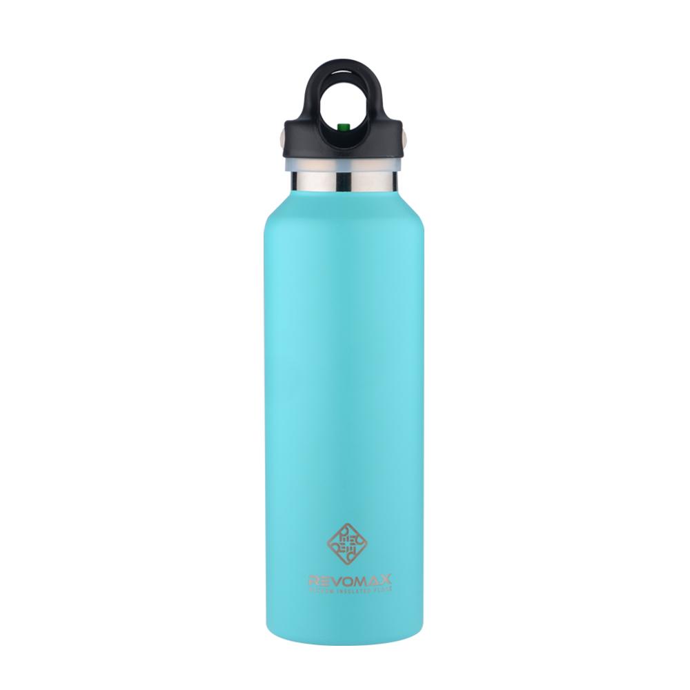 REVOMAX 316不鏽鋼保溫保冰秒開瓶592ML(湖水綠)
