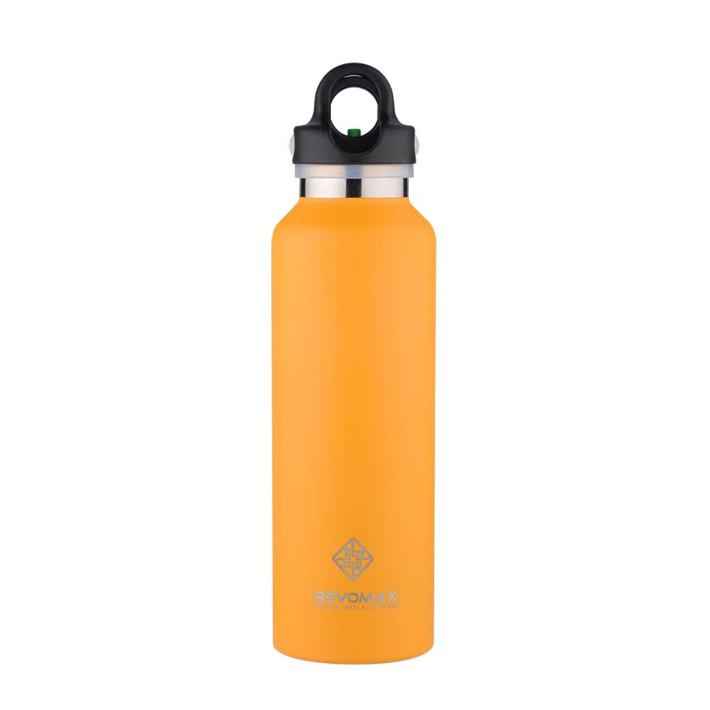REVOMAX|316不鏽鋼保溫保冰秒開瓶592ML(豔陽黃)