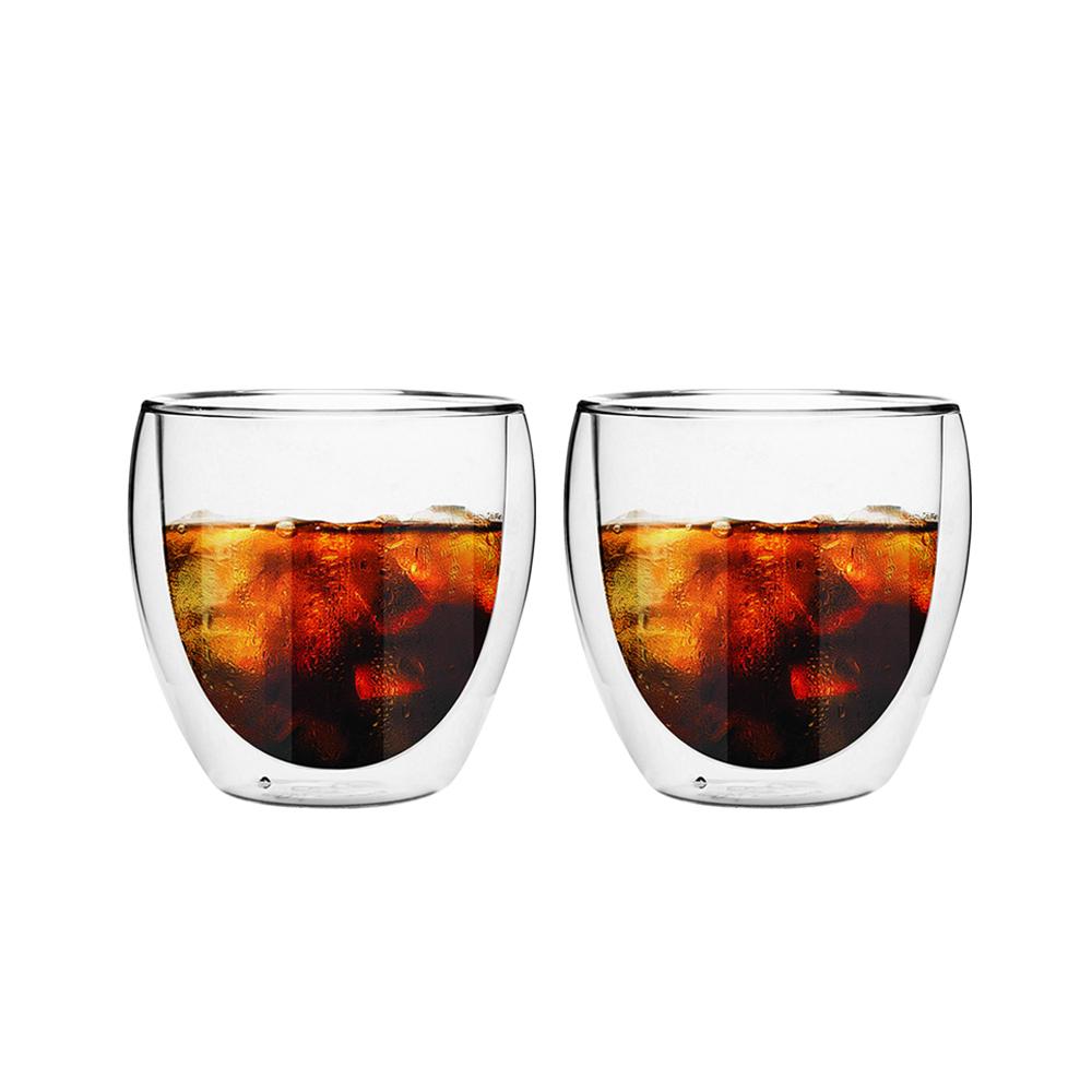 FUSHIMA 富島|經典系列雙層耐熱玻璃杯260ML*2入