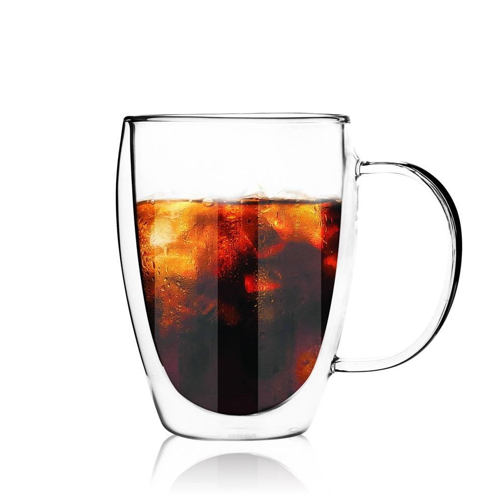 FUSHIMA 富島|經典系列雙層耐熱玻璃杯350ML(把手)