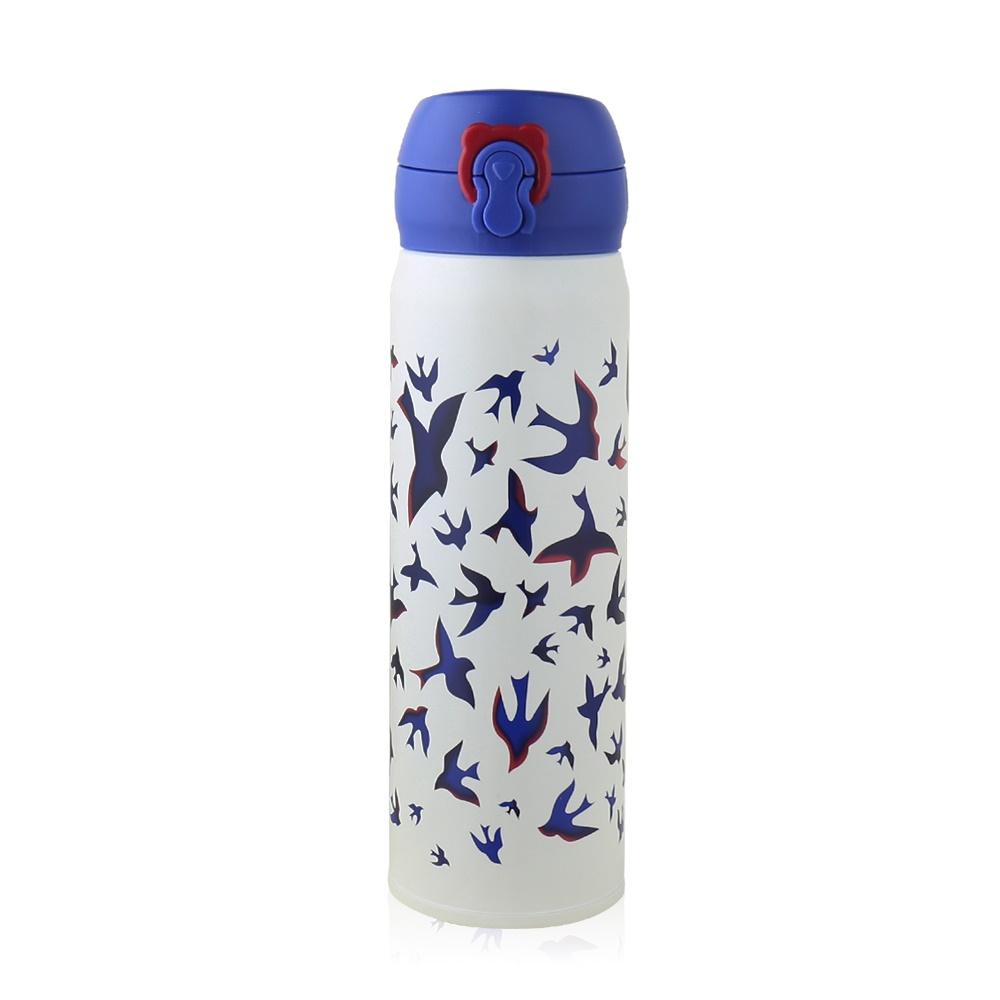 BEDDY BEAR|翱翔飛燕彈蓋款保溫保冷瓶480ML(藍色)