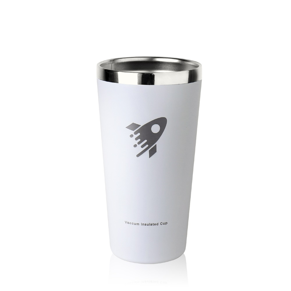 REVOMAX|316不鏽鋼鋼杯、啤酒杯、暢飲杯500ML(純潔白)