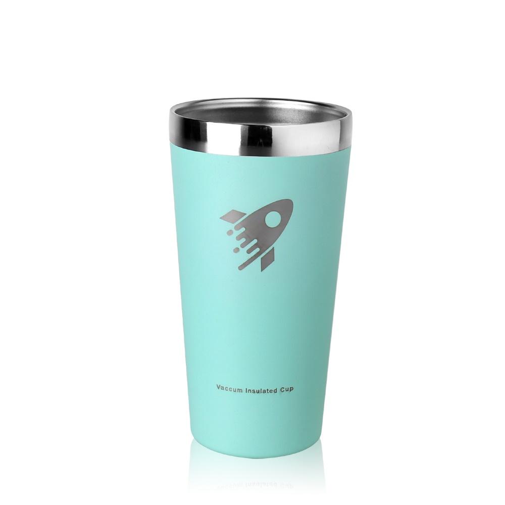 REVOMAX 316不鏽鋼鋼杯、啤酒杯、暢飲杯500ML(湖水綠)