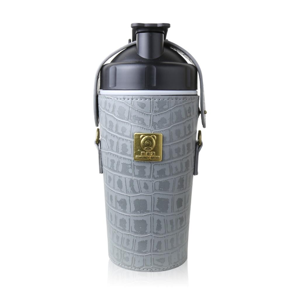 BEDDY BEAR 開芯能量可背式手提保溫保冷水壺600ML(灰色)