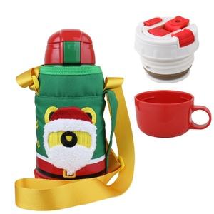BEDDY BEAR|兒童可背式保溫保冷水壺600ML(聖誕老公公)
