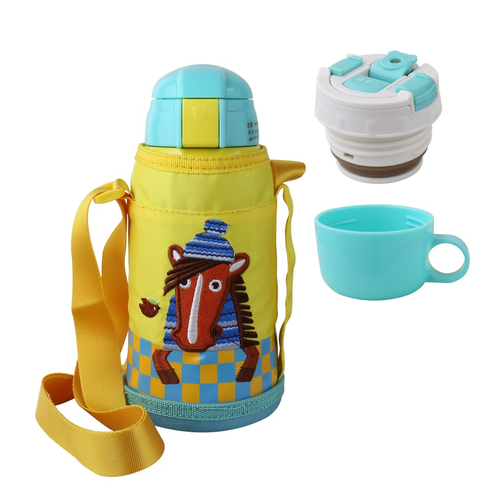 BEDDY BEAR|兒童可背式保溫保冷水壺600ML(帥氣小馬)