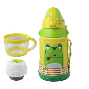 BEDDY BEAR|兒童可背式保溫保冷水壺600ML(小青蛙)