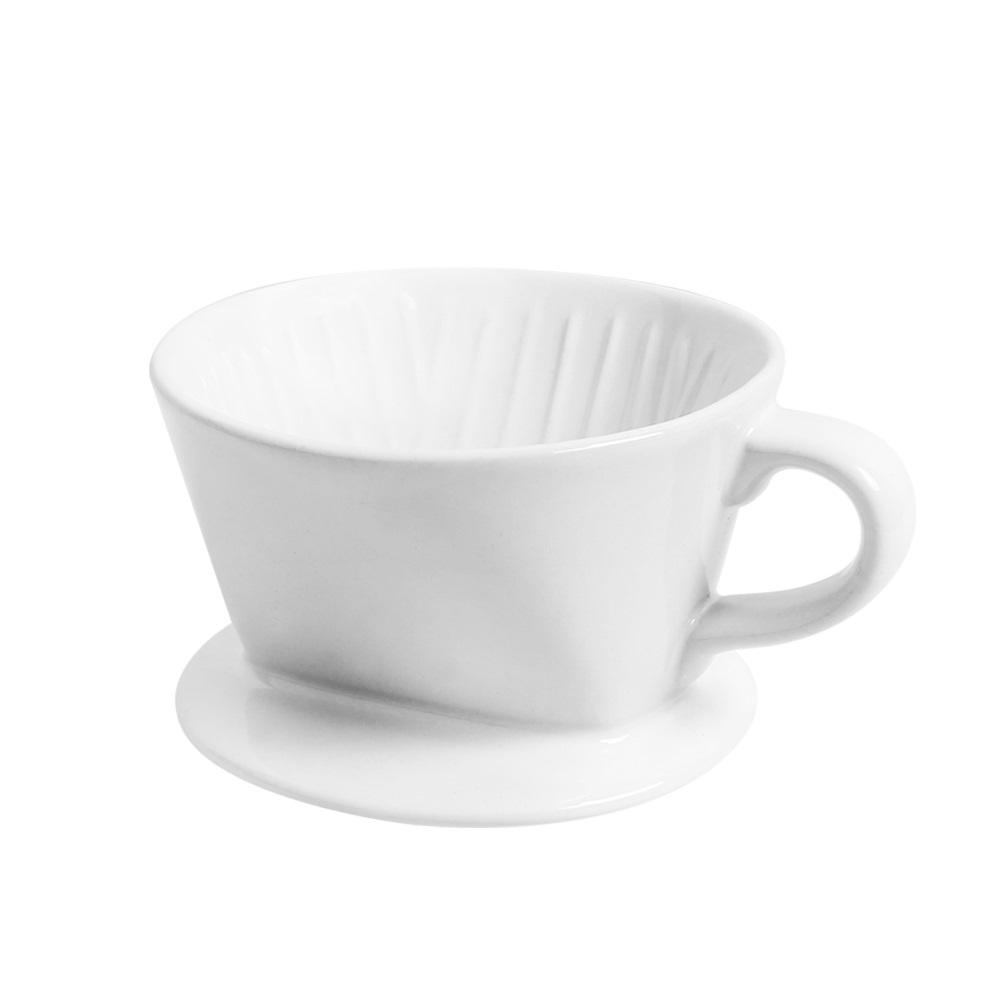 日本FUSHIMA富島|Tlar陶瓷肋型職人濾杯1~2人份(白色)